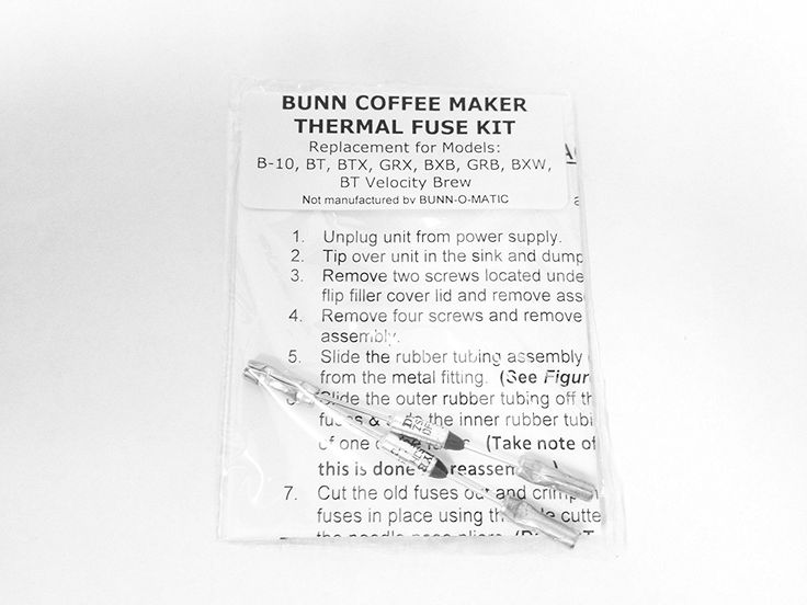 Repair Your Bunn Coffee Maker  Water Not Heating  Thermal Fuse Harness  B