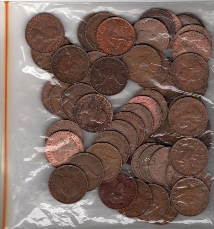 60 Australian Pre-Decimal Coins Penny Pennies EXCELLENT LOT Mixed KGV, KGVI, QE2 $35 start #ebay #coins