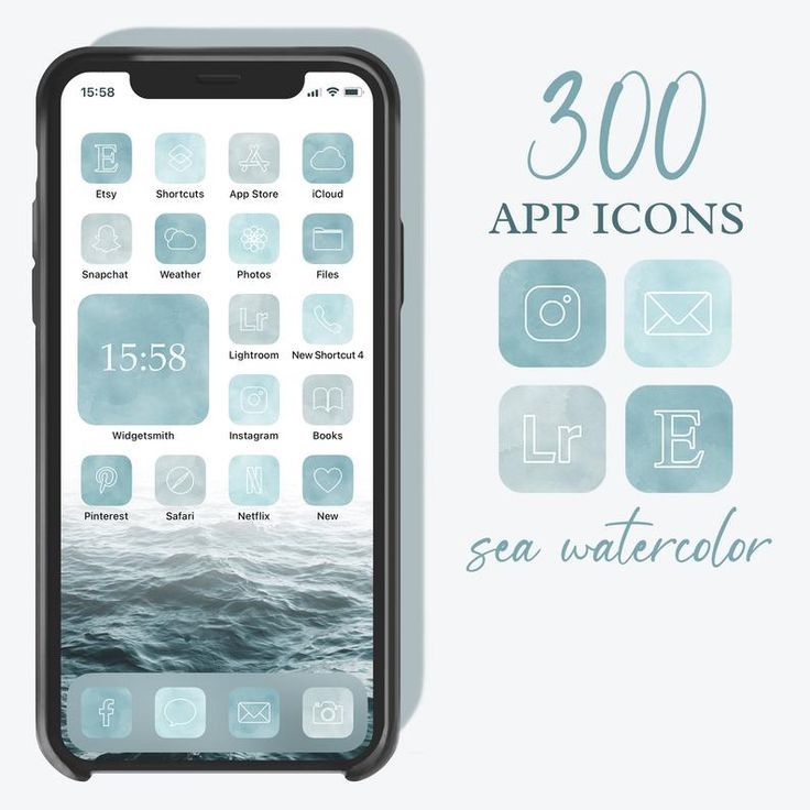 Neutral boho ios 14 app icons cream aesthetic iphone icons personalized home screen iphone widgets widgetssmith shortcuts in 2021 app icon. 300 Watercolor Turquoise App Icons, Neutral Blue Green ...