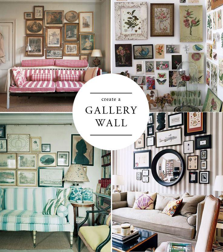 For A Modern English Home Create A Gallery Wall Como Crear Una Pared Como Galeria De Arte
