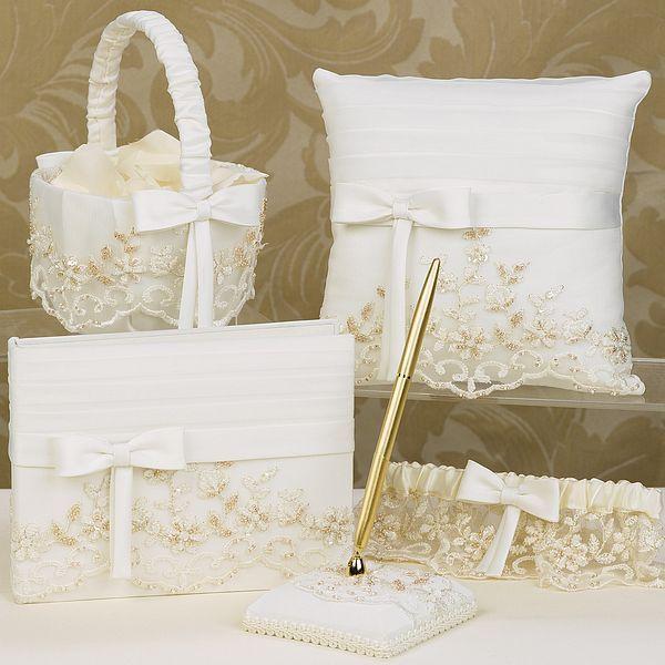 Vintage Charm Ivory Wedding Accessories Set Weddingceremony Weddingreception Weddingcollection