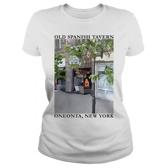 OLD SPANISH TAVERN OST ONEONTA LADIES WHITE SINGLE SIDE T-SHIRTS, HOODIES, SWEATSHIRT (19.95$ ==► Shopping Now)