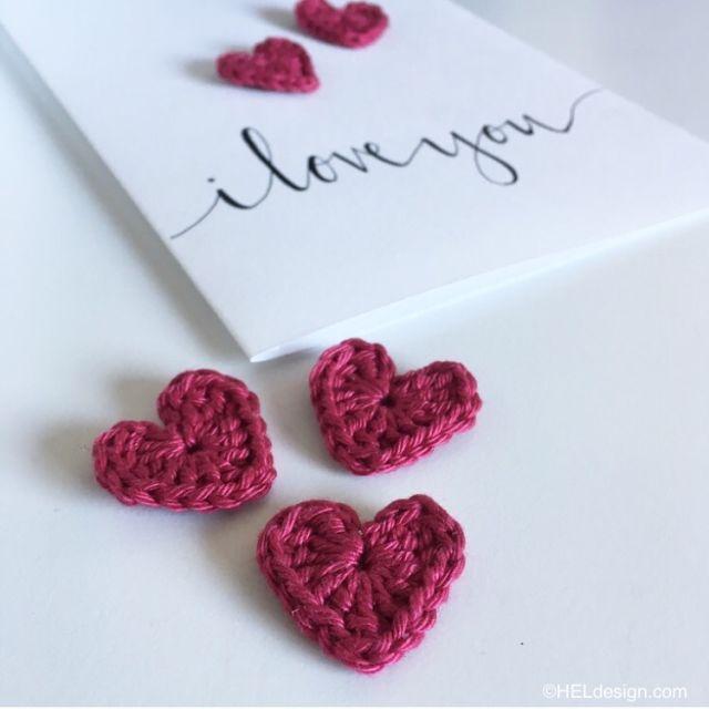heklet hjerte1_hegeespelandlygre_Heklet hjerte til Valentines-kort