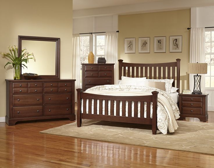 Vaughan Bassett Bedford Poster Bed King Discount Furniture At Hickory Park  Furniture Galleries
