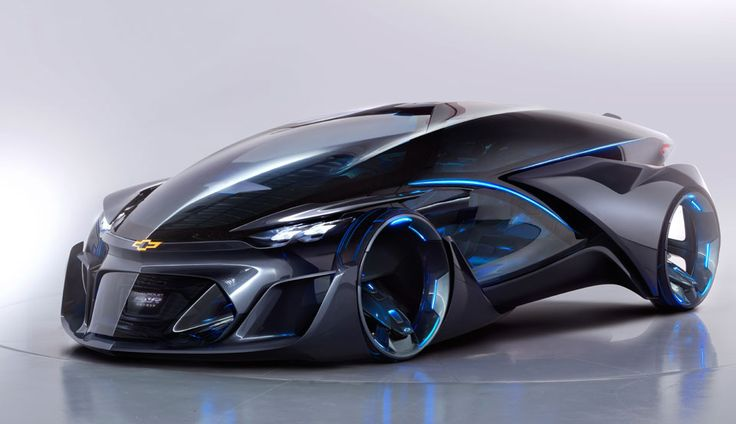 """Thought that Mercedes' F 015 self-driving car was futuristic? It looks old hat next to GM's autonomous electric concept, the Chevrolet-FNR. The pod-like design appears ripped straight from a sci-fi flick, complete with crystal laser lights, """"dragonfly"""" swinging doors and sensors (including radar) that aren't as conspicuous as they are on other robotic vehicles."""
