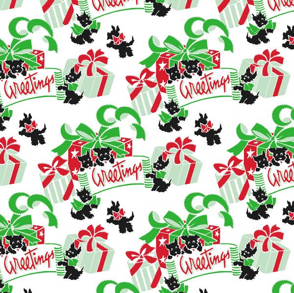 Scottie Dog Christmas Wrapping Paper My Scotty Dog