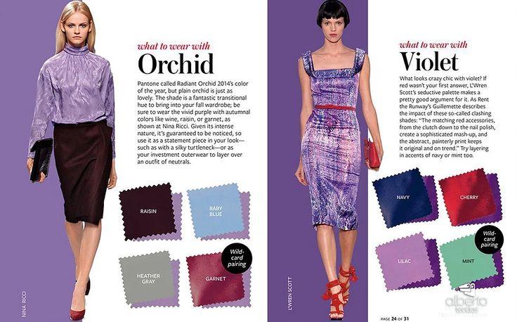 combinações para violeta e orquidea  #albertotecidos #tecidos #cuiaba #alberto #lojadetecidos #combinacao #paleta #cores #violaceo #roxo #orquidea #tendencia2017