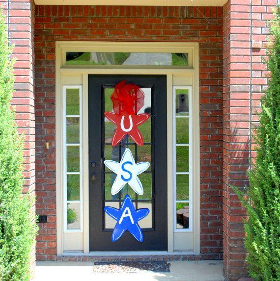 Door Hanger: Patriotic Decor, 4th of July, Summer Door Decoration