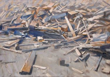 "Saatchi Online Artist Andrea Mancini; Painting, ""#1511 wood"" #art"