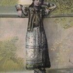 Romanian girl in her traditional costume back in 1907