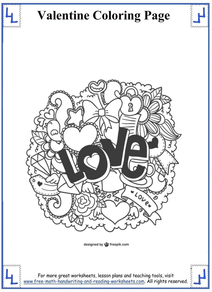 12 best Valentine Coloring Pages images on Pinterest | Valantine day ...