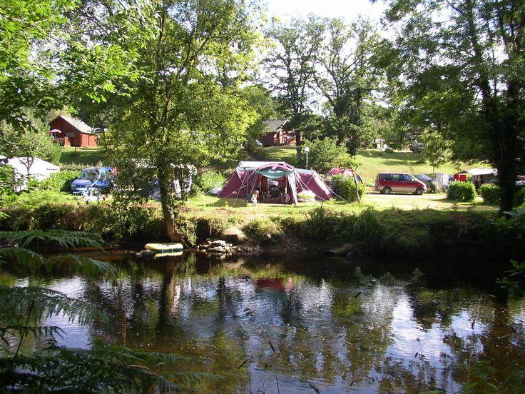 Le ty nadan , Locunolé, bij Lorient, camping met waterpark (Castels), Bretagne