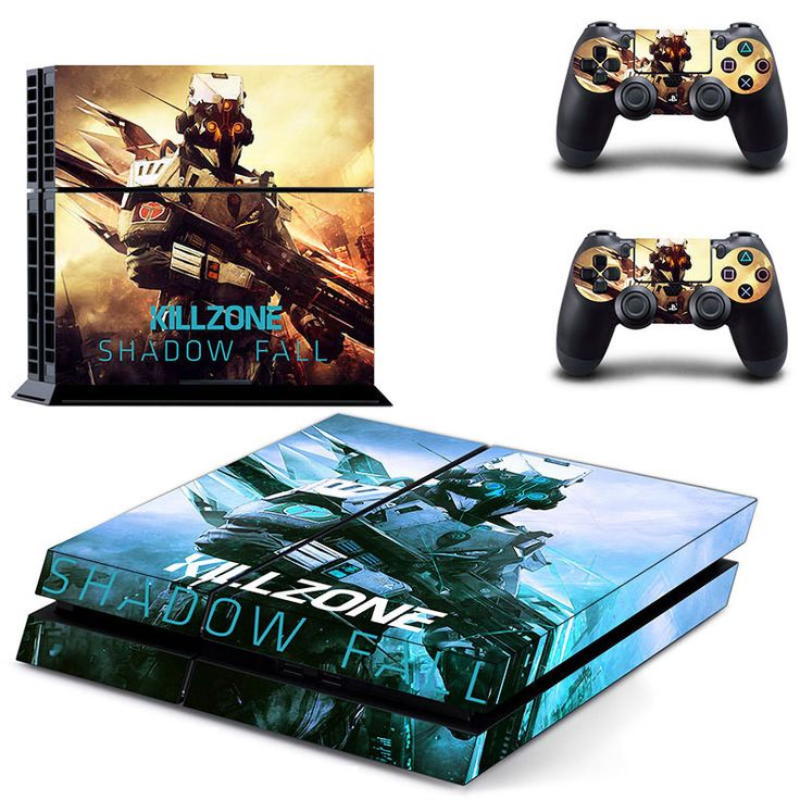 Killzone shadow fall ps4 skin decal for console and controllers