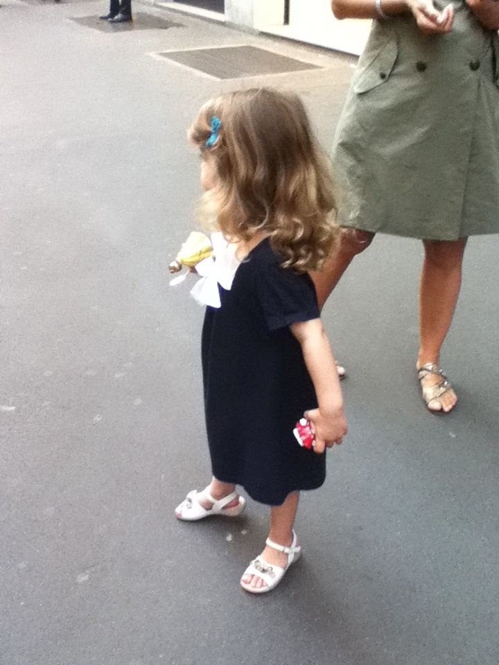 always admiring the way the italian dresses. even when they're still very young {milan.04.11}