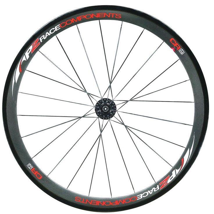 PZ Racing CR2.1W Tubular Shimano Bike Wheel Set, Carbon Matt Black