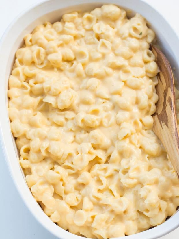 Creamy Mac and Cheese: 1 pound Pasta Shells 8 tablespoons Butter 1/2 cups Flour 3 cups Milk 3 cups Cheddar Cheese 1 teaspoon Dijon Mustard 1/2 cups Parmesan Cheese; (Optional)