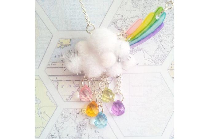 Rainbow day necklace by Echo Jewellery