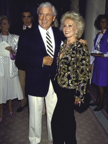 """Television Personality Merv Griffin and Actress Eva Gabor. they had a really close relationship , he proposed she declined """"we are much better  friends"""" he was so sad about her passing."""