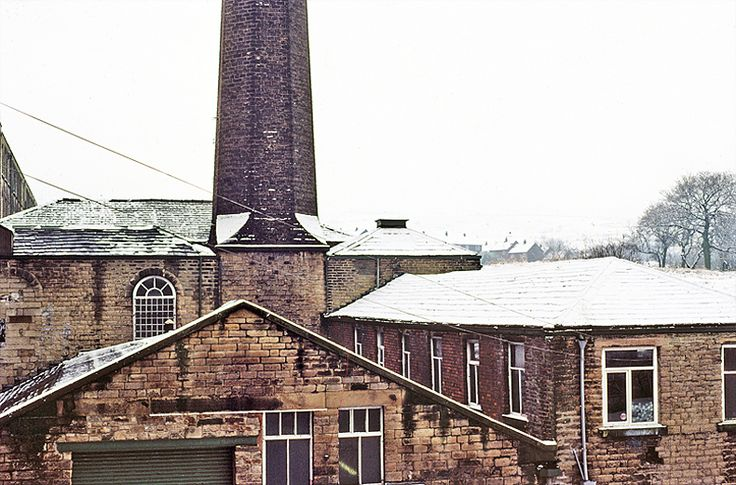 1981. Just the Shapes in a Cotton Mill Town, Mossley, East Lanc's.