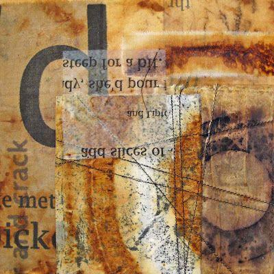 Jennifer Coyne Qudeen: tea bags art
