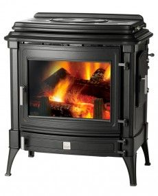 Nestor Martin 140+ with Cook Top - Woodburning Stove - Wood Burning Stove - Freestanding Stove - Multifuel Stove - Cast Iron Stove - Traditional Stove