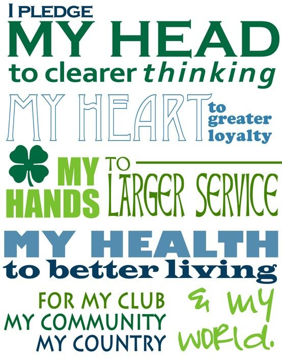 4-H, I was a very active member the maximum number of years I was eligible.