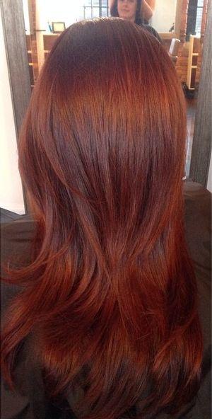fall 2014 hair color trend Auburn Harvest medium auburn brown 22 Natural Instincts.