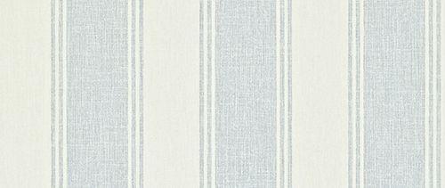 Addison Stripe Blue / Cream wallpaper by Sanderson