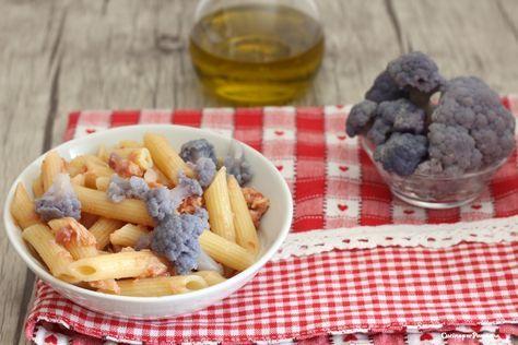 Pasta+con+crema+di+cavolfiore+viola+e+tonno