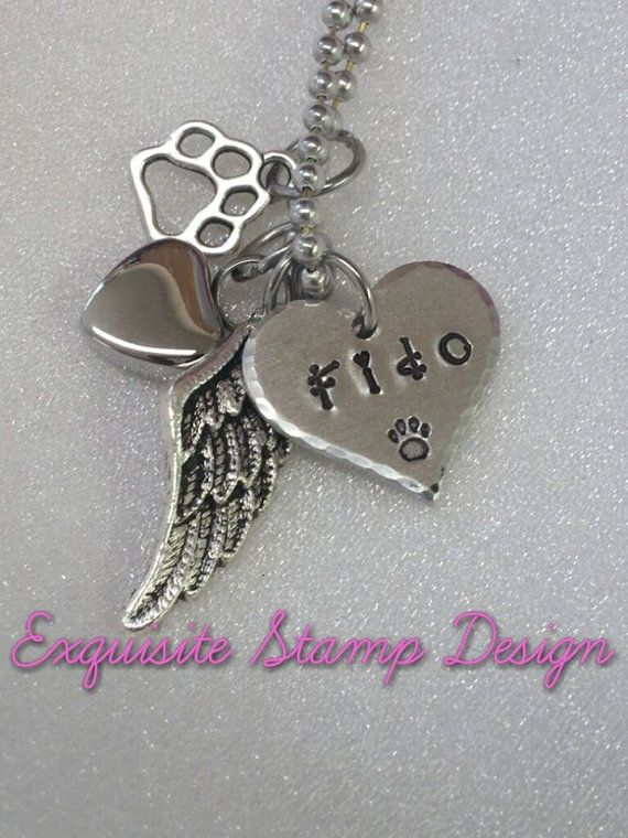 Pet Cremation Urn Necklace  Pet Memorial  by ExquisiteStampDesign