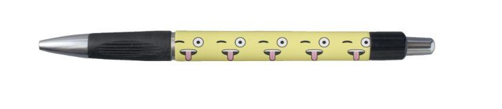 Pin for Later: Everything Your Emoji-Loving Kiddo Needs For Back to School Tongue out Emoji Rubber Grip Pen Tongue out Emoji Rubber Grip Pen ($6)