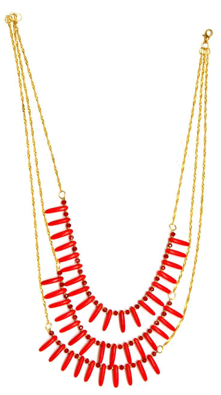 Collar Rojo / Joyería / Moda femenina / Accesorios para mujer / Día de las madres / 10 de mayo / Regalo para mamá