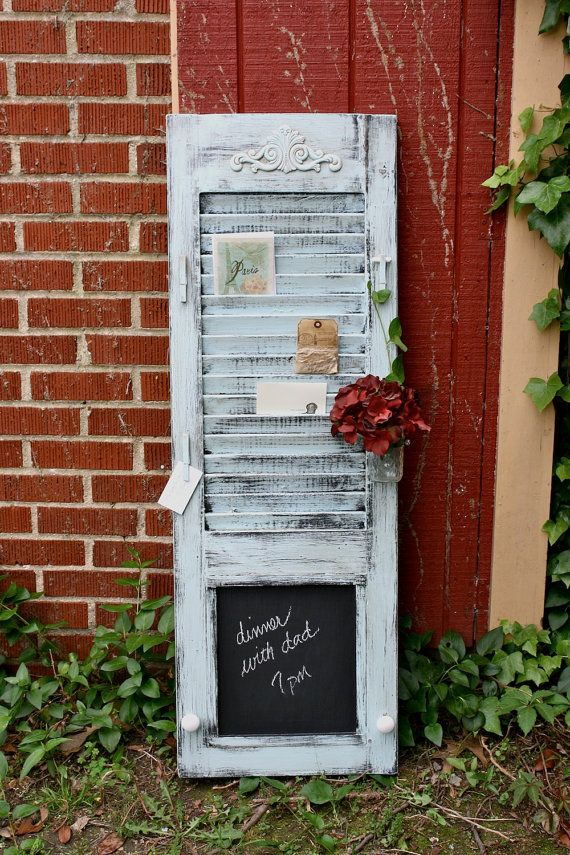 Cute Repurpose Idea for the kitchen or the summer home at a message center - maybe in the hallway or mud room...