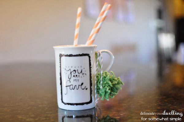 Easy to make Sharpie Mug Art! Delineateyourdwelling.com