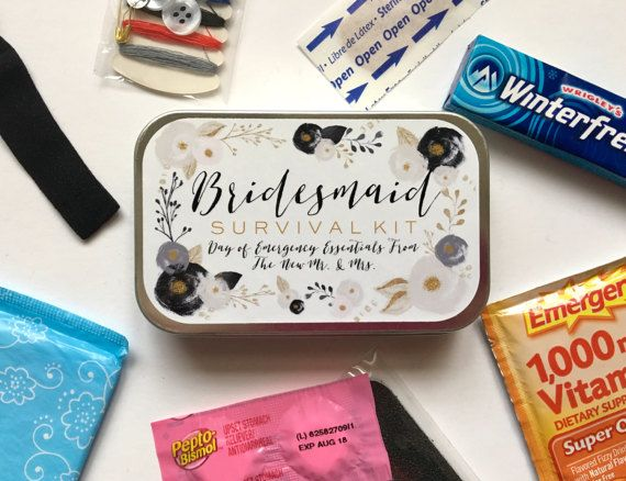 Bridesmaid Gift Bridesmaid Survival Kit Survival Kit