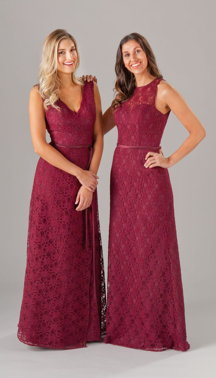 99 best lace bridesmaid dresses images on pinterest party mix and match lace bridesmaid dresses are perfect for your big day kennedy blue deep red ombrellifo Choice Image