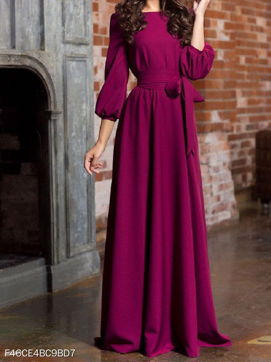 07586daaed77 Round Neck Patch Pocket Plain Maxi Dress #berrylook #fashion #styles  #clothes #fashionista ,berrylook clothing, berrylook shoes #berrylookviews,  #shopping, ...