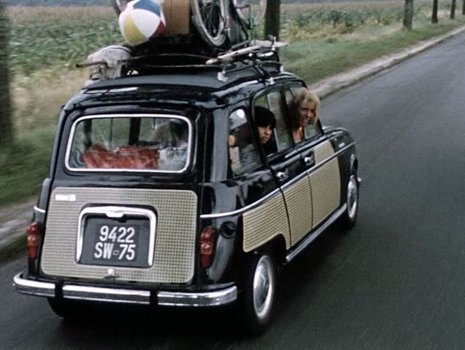 "Renault 4 la Parisienne. Nowt says ""Paris"" Like a roof rack full of nonsense"