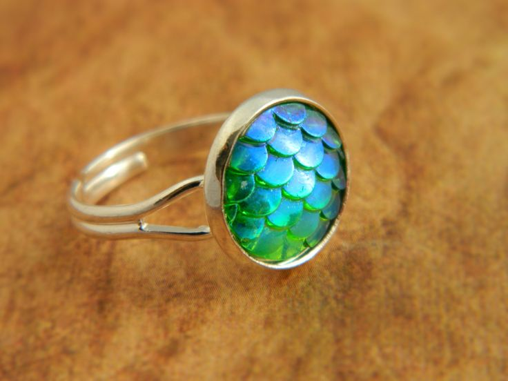 Green Mermaid Ring, Dragon Ring, Mermaid Scales, Dragon Scales, Fantasy Jewellery, Mermaid Jewelry, Dragon Gift, Green Ring, Mermaid Tail by FairyFountainGifts on Etsy https://www.etsy.com/listing/243866799/green-mermaid-ring-dragon-ring-mermaid