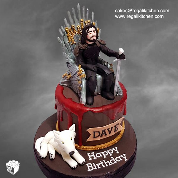 Jon Snow Game Of Thrones Cake Game Of Thrones Cake Game Of