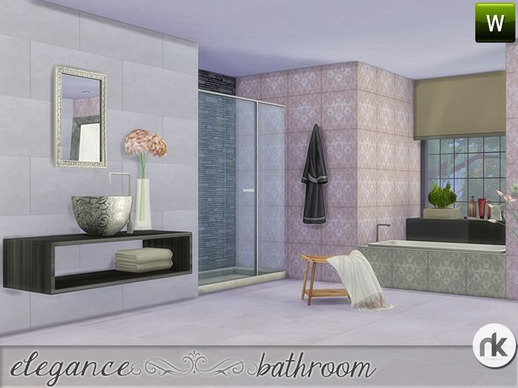 55 best TS4 Room Sets - Bathroom images on Pinterest Bathrooms - sims 3 wohnzimmer modern