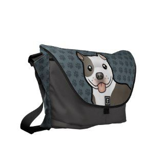 Cartoon Pitbull / American Staffordshire Terrier Courier Bag