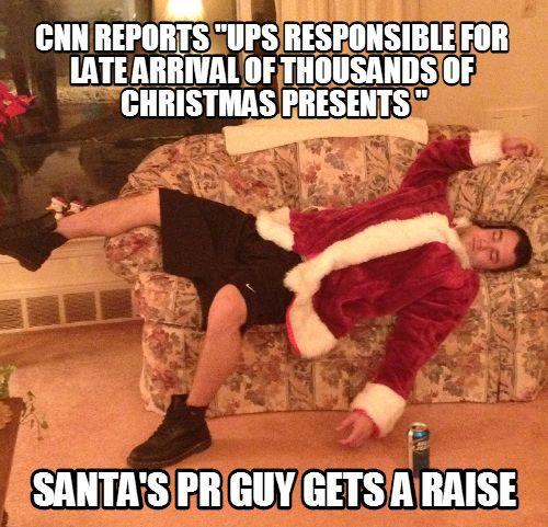 christmas funny, christmas meme, late christmas present, ups ...