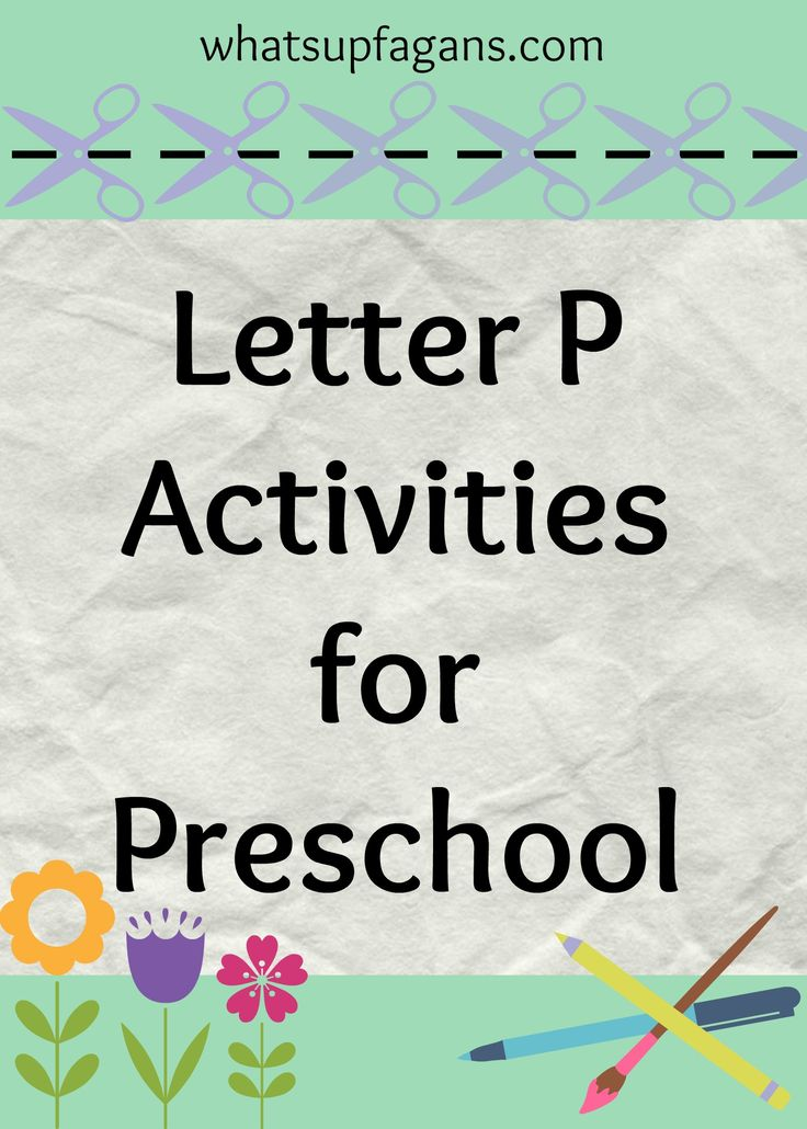 There are so many great letter P activities for preschool! Here's a preschool lesson plan on the letter P, with many more activities and snack ideas!