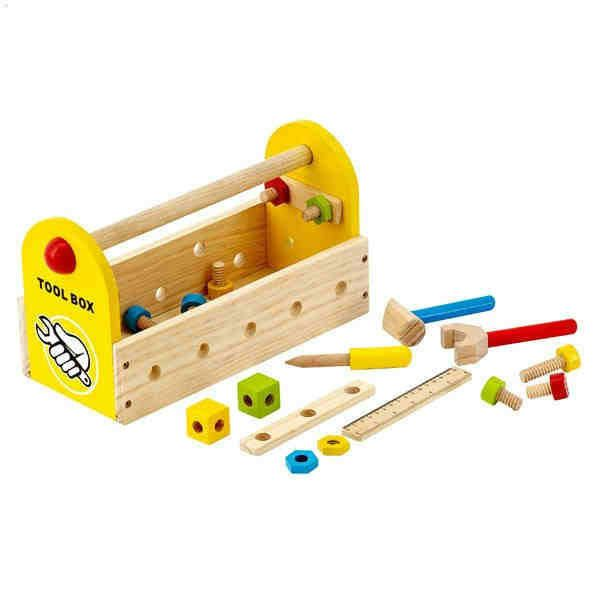 Tigris Wholesale Small Wooden DIY Tool Case For Children - Availability: in stock - Price: £26.39