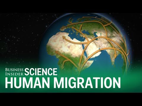 Animated map shows how humans migrated across the globe - YouTube