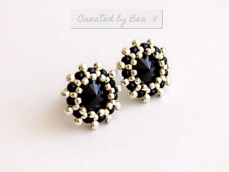 Rivoli 8 mm earrings. http://createdbybea.blogspot.cz/