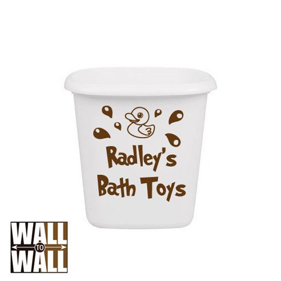 Personalized Kids Bath Toys Decal  vinyl wall by walltowalldecals, $9.99