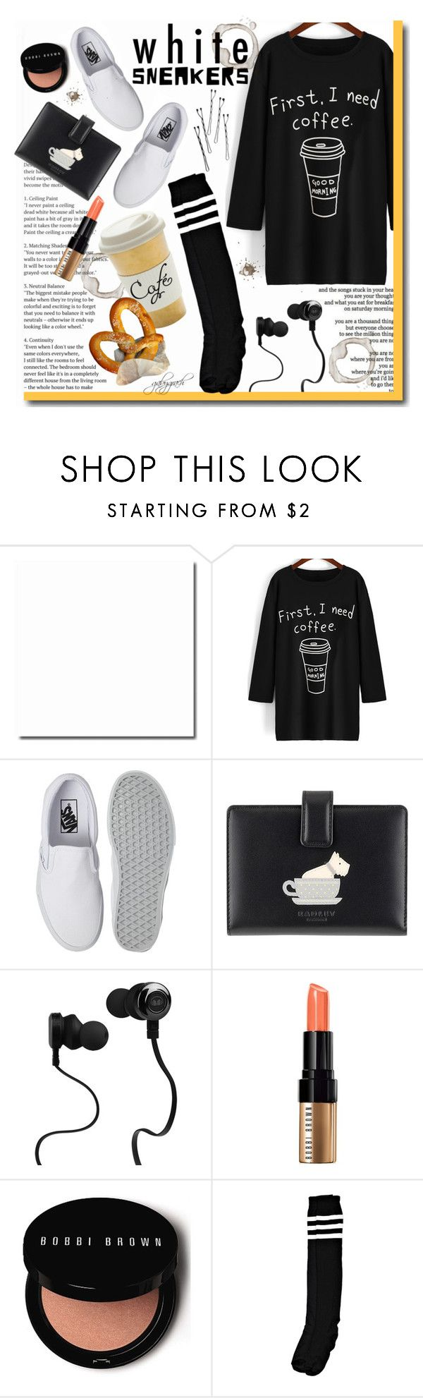 """""""Bright White Sneakers"""" by gabygrach ❤ liked on Polyvore featuring Vans, Rochas, Radley, Monster, Bobbi Brown Cosmetics, fashionset, polyvoreeditorial, polyvorecontest and whitesneakers"""