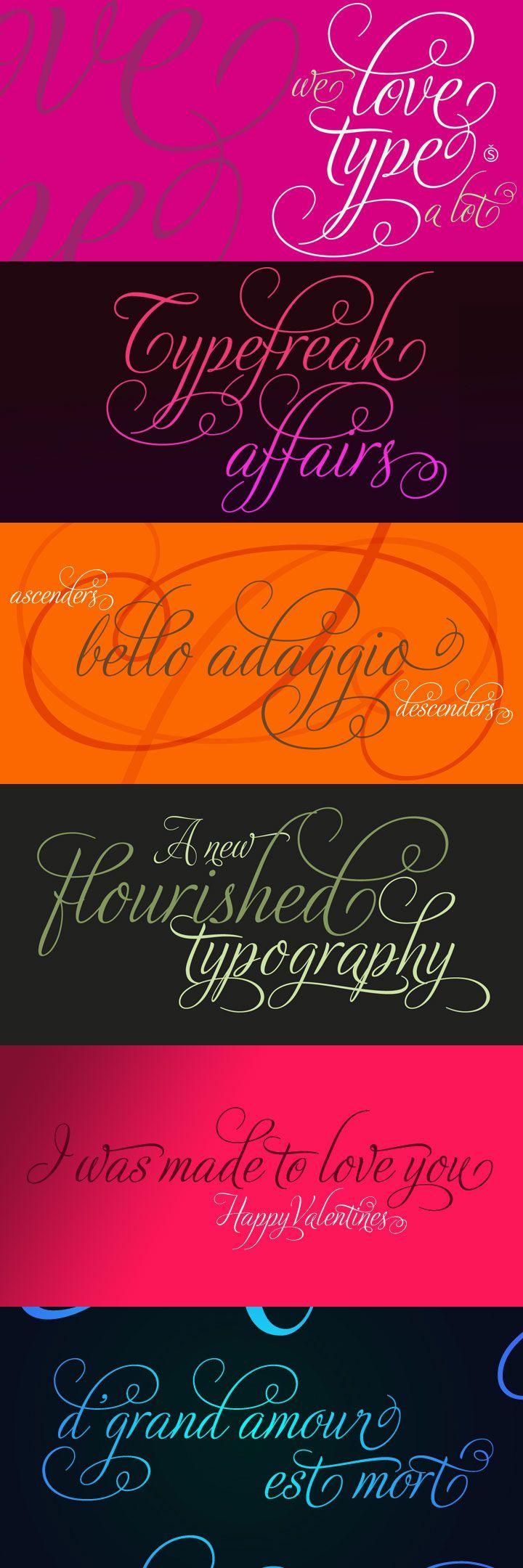 Adios Script Pro font romantic and
